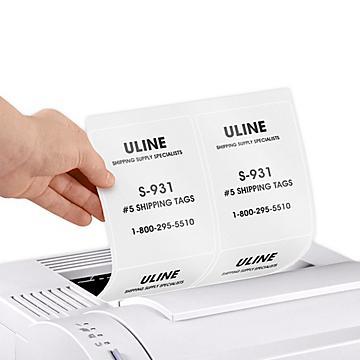 Uline Glossy White Laser Labels