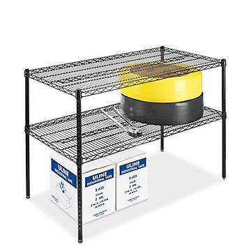 Two-Shelf Adjustable Wire Shelving