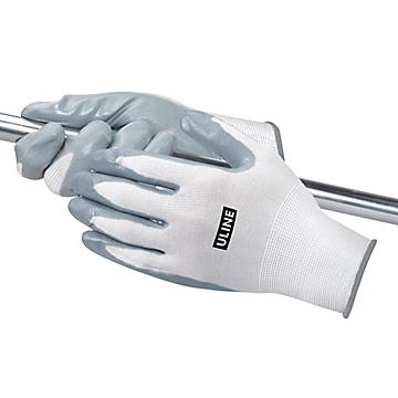 Uline Flat Nitrile Coated Gloves