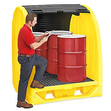 Spill Containment Drum Shed