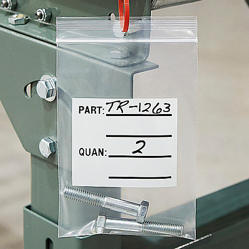 Uline 4 Mil Parts Bags with Hang Holes