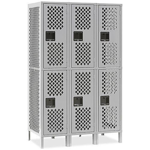 Ventilated Double Tier Lockers
