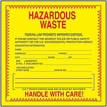 Waste Labels