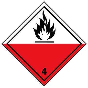 Hazard Class 4 International Labels