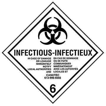 Hazard Class 6 International Labels