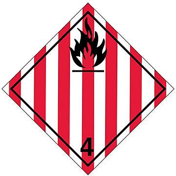 Hazard Class 4 International Placards