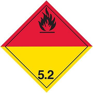 Hazard Class 5 International Placards