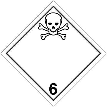 Hazard Class 6 International Placards