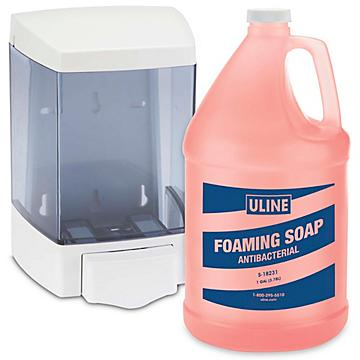 Uline Bulk Foaming Soap / Dispenser