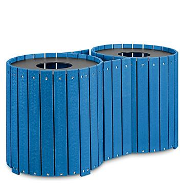 Double Recycled Plastic Trash Can - 64 Gallon