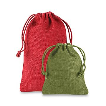 Colored Burlap Bags