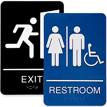 Plastic Restroom and Access Signs