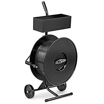 Uline – Chariot pour feuillard de cerclage en polypropylène – Rouleau intérieur de 8 x 8 po
