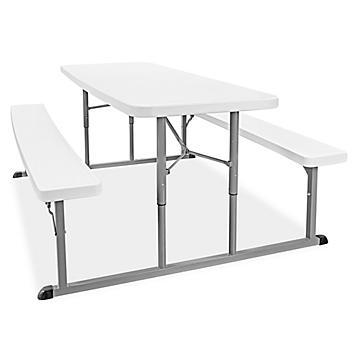 "Economy Folding Picnic Table - 69 x 54"""