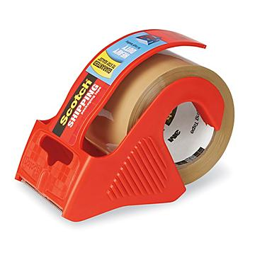 """3M 143 Shipping Tape with Dispenser - Tan, 2"""" x 22.2 yds"""