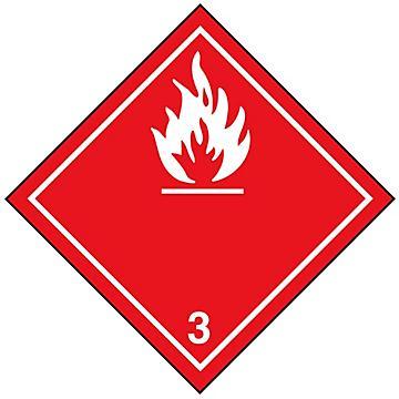 "International Labels - Flammable Liquid, 4 x 4"""
