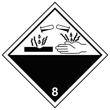 "International Labels - Corrosive, 4 x 4"""