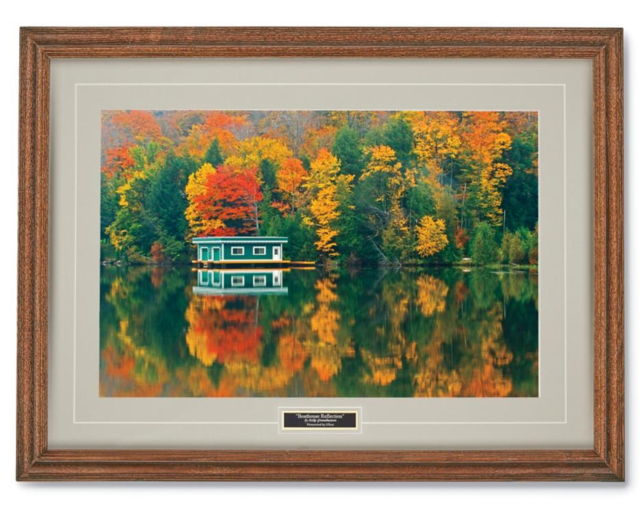 Boathouse Reflection Print
