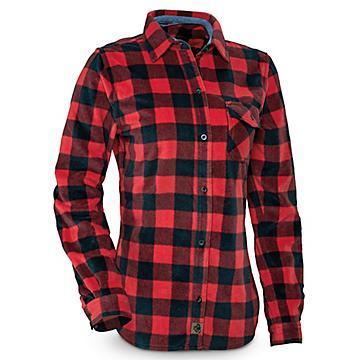 Women's Plaid Fleece Shirt